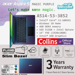 """Acer Aspire 5 A514-53 - i3-1005G1 4GB 512GB + INTEL OPTANE 14"""" W10 OHS"""