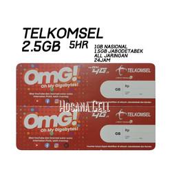 Voucher Paket Data Telkomsel 2.5GB