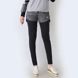 HITJAB Legging + Celana Pendek 2 In 1 Set Sport Olahraga Yoga Tennis - CELANA DARK