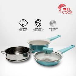 Welcook Peralatan Panci Bayi Baby Cookware - Light Blue