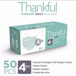 Masker Thankful daily mask 4 ply. 1 box isi 50 pcs.