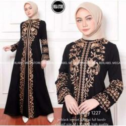 Exclusive Abaya Bordir Zahra By Salaf Boutique Bahan Jet Black
