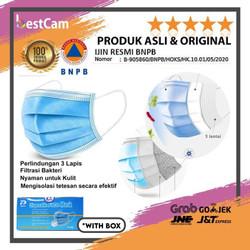 Masker 3 Ply isi 50 Disposable Surgical Mask Masker Bedah Earloop