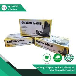 Sarung Tangan - Golden Gloves Vinyl Disposable POWDERED - M