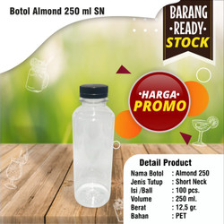 Botol almond 250 ml SN (Packing Dus) Grosir Termurah
