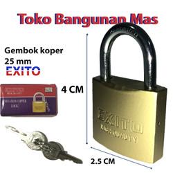 GEMBOK KOPER EXITO 25 mm - 50 mm / GEMBOK KECIL EXITO GOOD QUALITY