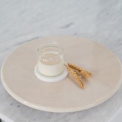 Lazy Susan Marble Plate - Piring Putar Marmer