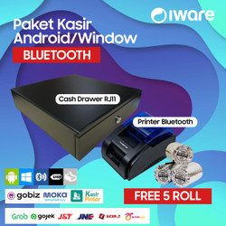 PAKET KASIR / PPOB ANDROID (CASH DRAWER+PRINTER BLUETOOTH+KERTAS)
