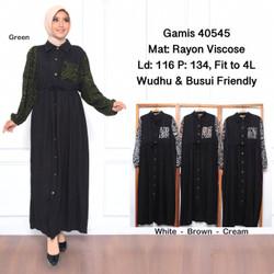 baju terusan wanita gamis muslim/GF25