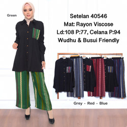 baju setelan wanita muslim set/GF22