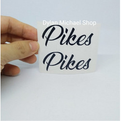 Cutting Sticker Frame Sepeda Pikes