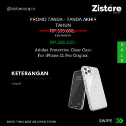 PROMO!!! Adidas Protective Clear Case For iPhone 11 Pro Original