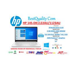 "HP 14s-dk1122AU 14s-dk1123AU ATHLON GOLD 3150 4GB 512GB 14"" W10 + OHS"
