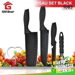 GM Bear Set Pisau Dapur isi 5pcs Hitam 1083-Pisau Set 5 Pcs