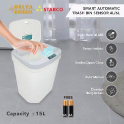Starco Smart Otomatis Trash Bin Tempat Sampah Tong Sampah Sensor 15L