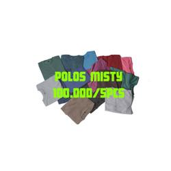 kaos polos pendek misty twotone series - RANDOM, XL