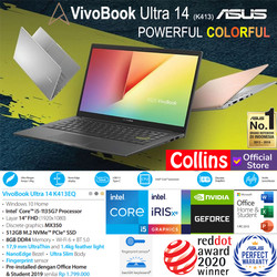 """ASUS VIVOBOOK 14 K413FQ - i5-10210U 8GB 512GB MX350 2GB 14"""" FHD W10"""
