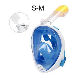 Snorkling Snorkel Diving Scuba Snorkle SNORKELING Full Face Murah - Blue SM