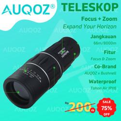 AUQOZ x Bushnell Teropong Monocular Focus Zoom Lens Focus Telescope