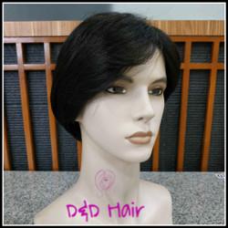 Wig Rambut - Wig Pria - D&D1405 - Black - Wig Cowok
