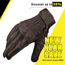 Komine GK-720 Vintage Leather Gloves BROWN