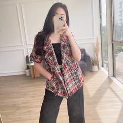 Ji Hye Tweed Blazer (multicolor)