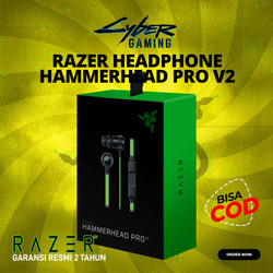 Razer Hammerhead Pro V2 In-Ear Gaming Headphones - Garansi 2 Tahun