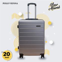 Koper Bagasi Murah Polo Viena Model 001 20 Inch ABS Fiber,Koper kabin - Silver