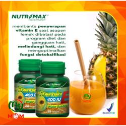 [BPOM] Nutrimax Vitamin E 400 IU Water Soluble 30s / Vitamin Kulit