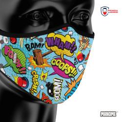 Manome Masker kain 3 Ply Premium ukuran Besar - COMIC