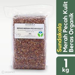 Sundakala - Beras Merah Pecah Kulit 1kg - Beras Organik - Beras Diet