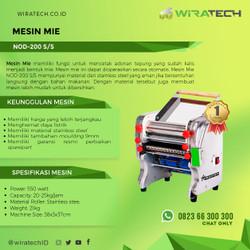 Mesin Mie NOD-200S/S - Mesin Cetak Mie (Body Stainless Steel)