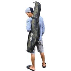 Tas Pancing Selempang Shimano Jumbo - Tas Joran 120cm - Ransel, Abu Loreng