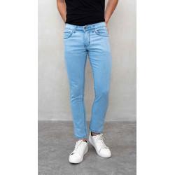 Celana panjang Jeans Slim Fit biru muda denim pants pria houseofcuff