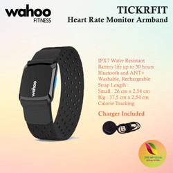 Wahoo TICKRFIT Heart Rate Monitor Armband ANT+ Bluetooth