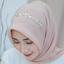 Jilbab Hijab Kerudung Segi Empat Bando Payet Terbaru