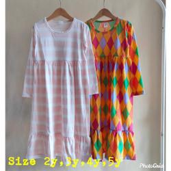 Gamis Harian Anak Bahan Kaos Ukuran Size 2-5 tahun
