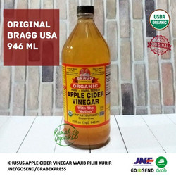 Organic Apple Cider Vinegar 946ml By Bragg (Cuka Apel Bragg)