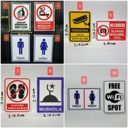 Sticker Sign Jagalah Kebersihan, Dilarang Merokok, Toilet