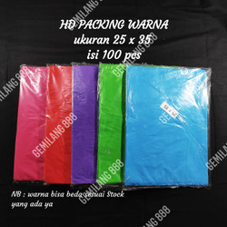 HD Packing uk 25x35 | kantong plastik oval tanpa blong
