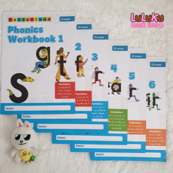Buku Anak Import - Letterland : Phonics Workbooks Set (isi 6 buku)