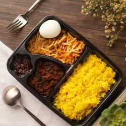 Bento Nasi Kuning Ikan Cakalang Abon - DAGING SAPI