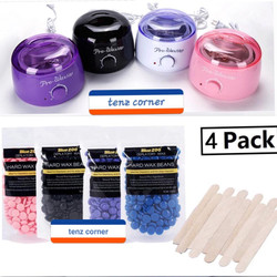 PAKET HEMAT Warmer Pro Wax Heater with 3 Pack Waxing Beans @100gr