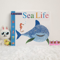 Buku Edukasi Anak Bayi Import Baby Board Book Alphaprints Sea Life