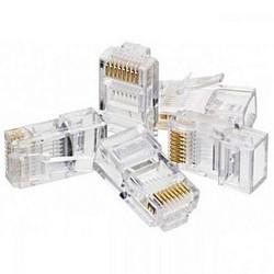 Jack RJ45 Konektor Kabel LAN Network untuk 8 Jalur UTP Cable