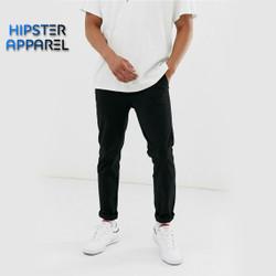 Hipster celana panjang chino besar big size warna HITAM