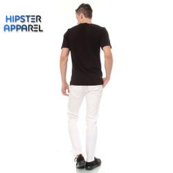 Hipster celana panjang chino warna putih
