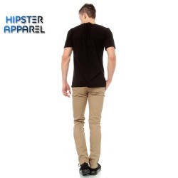 Hipster celana panjang chino warna khaki