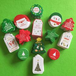 Tag/label natal merry christmas 10 pcs