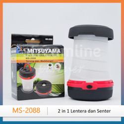 [Mitsuyama] Lampu LED Camping Lipat/Senter Tenda 2 in 1 MS-2088